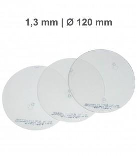 Placa Erkoloc-pro, PETG-TPU, Ø 120 mm, 1,3 mm, Transparente - Erkodent