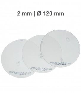 Placa Erkoloc-pro, PETG-TPU, Ø 120 mm, 2,0 mm, Transparente - Erkodent