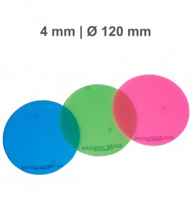 Placa Erkoloc-pro, PETG-TPU, Ø 120 mm, 4,0 mm, Colorida - Erkodent